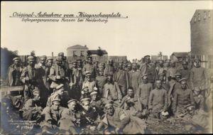 Ak Nidzica Neidenburg Ostpreußen, Gefangengenommene Russen