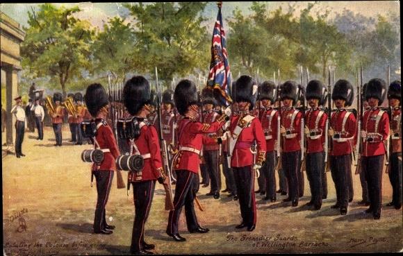 Künstler Ak Payne, Harry, The Grenadier Guards of Wellington Barracks, Tuck 3546 C