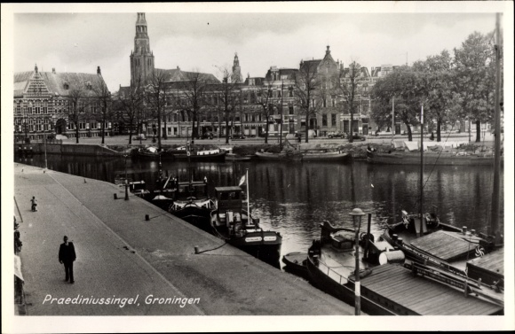 Ak Groningen Niederlande, Praediniussingel, Kirche