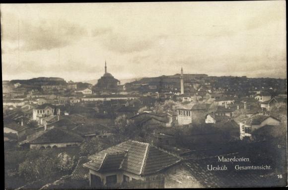 Ak Skopje Mazedonien, Gesamtansicht