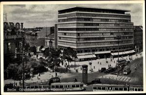 Ak Berlin Tiergarten, Columbushaus am Potsdamer Platz, Straßenbahn