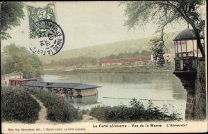Ak La Ferté sous Jouarre Seine et Marne, Vue de la Marne, l'Abreuvoir