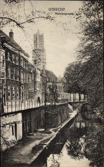 Ak Utrecht Niederlande, Nieuwegracht