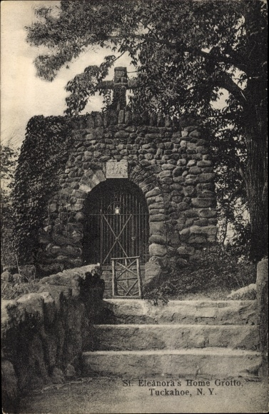 Ak Tuckahoe New York USA, St. Eleanora's Home Grotto