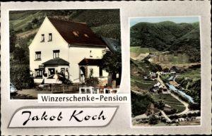 Ak Mayschoß in Rheinland Pfalz, Winzerschänke, Pension Jakob Koch, Bundesstraße 10a