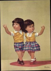 Ak Käthe Kruse Puppen, Junge und Mädchen