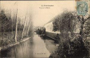 Ak La Ferté Gaucher Seine et Marne, Vue sur le Morin