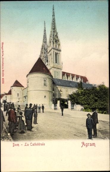 Ak Agram Zagreb Kroatien, Dom, Cathédrale