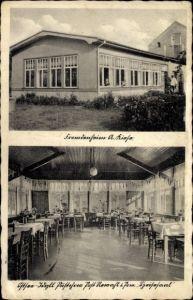 Ak Rewal Rewahl Pommern, Ferienheim A. Kiese, Innenansicht