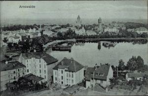 Ak Choszczno Arnswalde Ostbrandenburg, Totalansicht