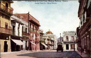 Ak Vera Cruz Mexico, A Street Scene, Street view