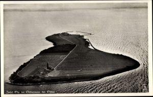 Ak Greifswalder Oie Kröslin Ostsee, Insel, Fliegeraufnahme, Klinke & Co. 10511