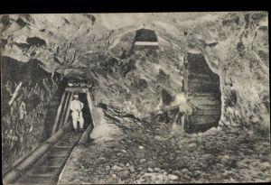 Ak Dürrnberg Hallein Tennengau Österreich, Bergwerk, Bergeinfahrt, Bergmann