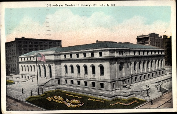 Ak St Louis Missouri USA, New Central Library