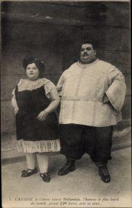 Ak Cannon, le Colosse Géant Hollondais, l'Homme plus lourd du Monde
