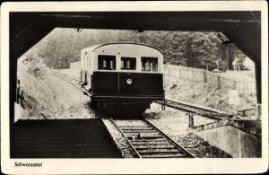 Ak Die Bergbahn im Schwarzatal, Tunnel