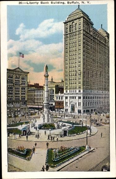 Ak Buffalo New York USA, Liberty Bank Building