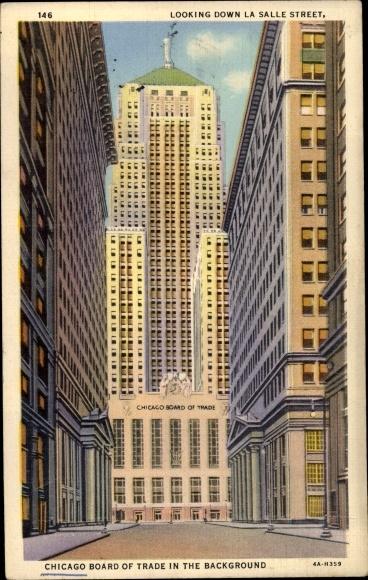 Ak Chicago Illinois USA, Chicago Board of Trade, La Salle Street