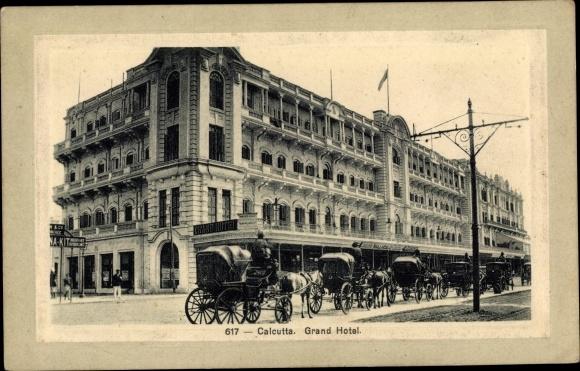 Ak Kolkata Kalkutta Indien, Grand Hotel