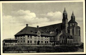 Ak Oldenzaal Overijssel Niederlande, Drievuldigheidskerk met Pastorie