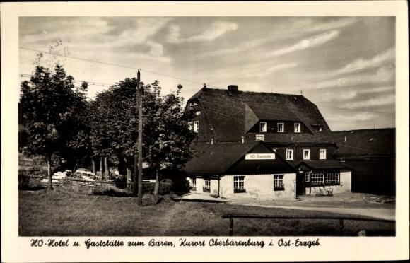 Ak Ober Bärenburg Altenberg im Erzgebirge, HO Hotel, Gaststätte zum Bären