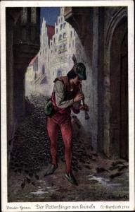 Künstler Ak Herrfurth, Oskar, Der Rattenfänger von Hameln, Brüder Grimm Märchen