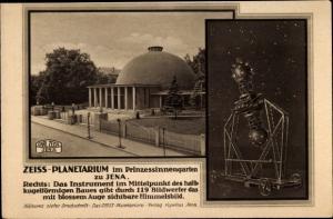 Ak Jena, Zeiss Planetarium im Prinzessinnengarten