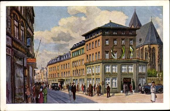 Künstler Ak Köln am Rhein, Urbans Hotel Ewige Lampe