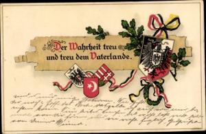 Wappen Litho Der Wahrheit treu und treu dem Vaterlande
