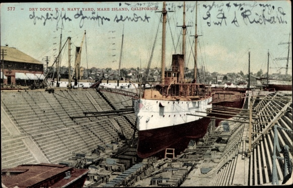 Ak Mare Island Kalifornien, US Navy Yard, Dry Dock