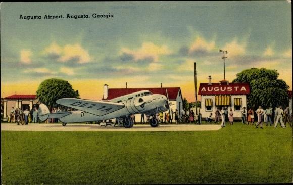 Ak Augusta Georgia USA, Augusta Airport, Delta Beech 18