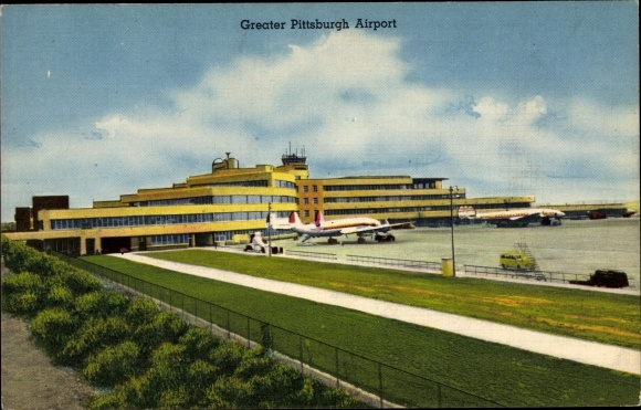Ak Pittsburgh Pennsylvania USA, Greater Pittsburgh Airport, Eastern and TWA Constellation