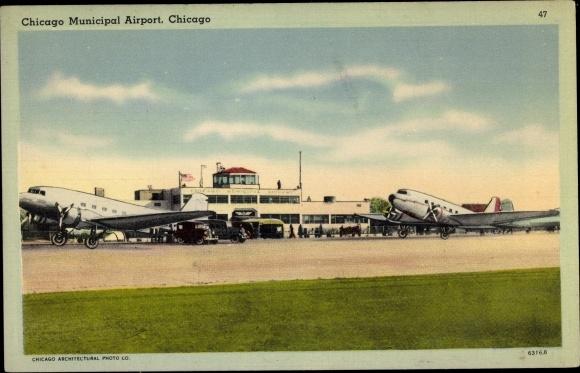 Ak Chicago Illinois USA, Municipal Airport