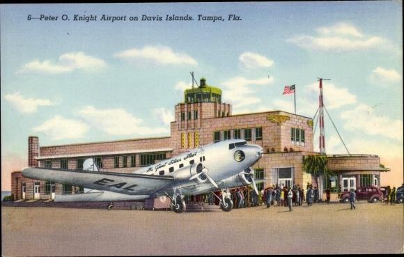 Ak Tampa Florida USA, Peter O. Knight Airport, Davis Islands, Eastern DC 3