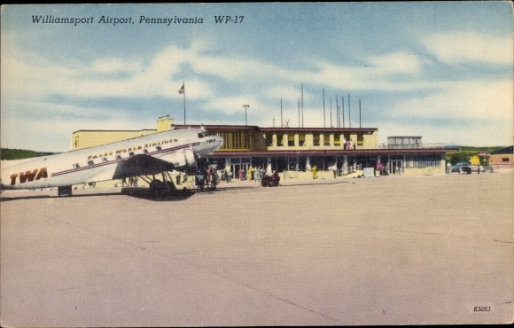 Ak Pennsylvania USA, Williamsport Airport, TWA DC 3