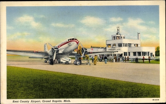 Ak Grand Rapids Michigan USA, Kent County Airport, PCA DC 3