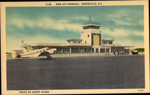 Ak Greenville South Carolina USA, New Air Terminal, Airport