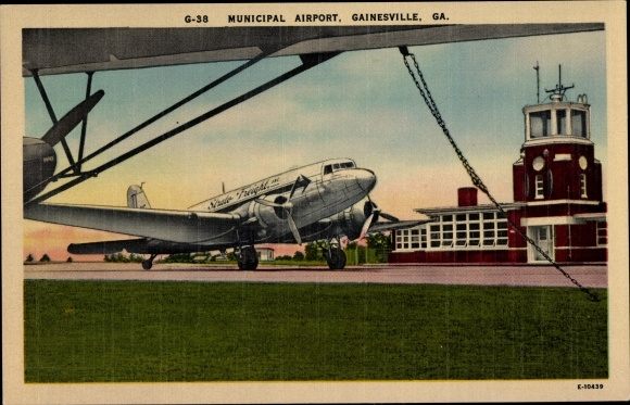 Ak Gainesville Georgia USA, Municipal Airport, Strato Freight DC 3 0