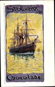 Künstler Ak Bohrdt, Hans, Stollwerck Schokolade, Die deutsche Flotte, Panzerschiff König Wilhelm
