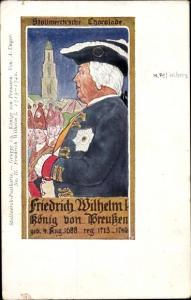 Künstler Ak Unger, A., Stollwerck Schokolade, König Friedrich Wilhelm I. von Preußen