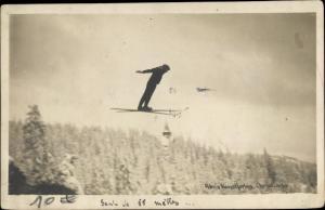 Ak Christiania Norwegen, Skispringer in der Luft