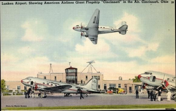 Ak Cincinnati Ohio USA, Lunken Airport, American Airlines Flagship Cincinnati, DC 2 0