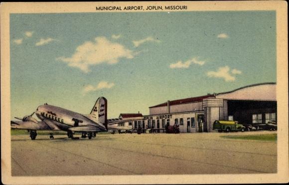 Ak Joplin Missouri, Municipal Airport, American Airlines DC 3