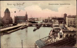 Ak Berlin, Dampferstation Jannowitzbrücke