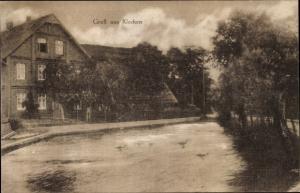 Ak Klecken Rosengarten Harburg, Uferpartie, Enten, Wohnhaus
