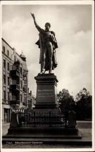 Ak Sowjetsk Tilsit Ostpreußen, Schenkendorf Denkmal