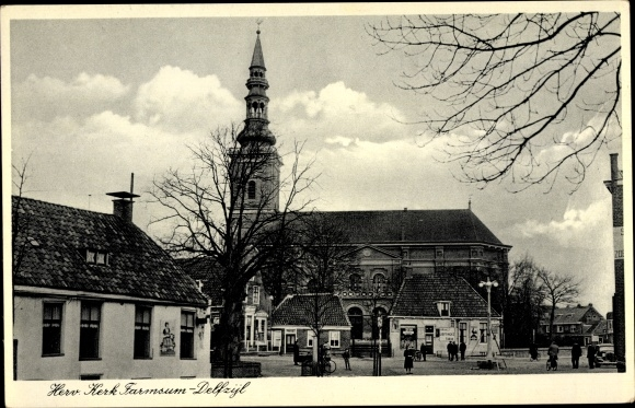 Ak Farmsum Delfzijl Groningen Niederlande, Herv. Kerk