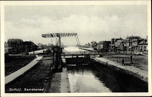 Ak Delfzijl Groningen Niederlande, Eemskanaal