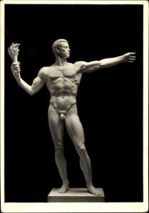 Ak Plastik von Arno Breker, Monumentalfigur, Männerakt