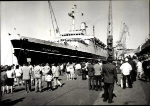 Ak Gdynia Gotenhafen Pommern, TS Stefan Batory, Polish Ocean Lines